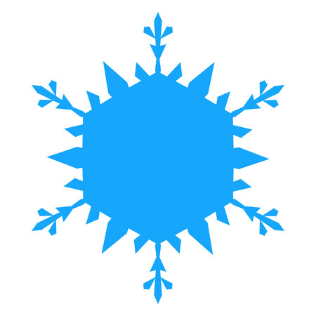 Snowflake Icon. vector illlustration. Isolated on white background. Ilustração