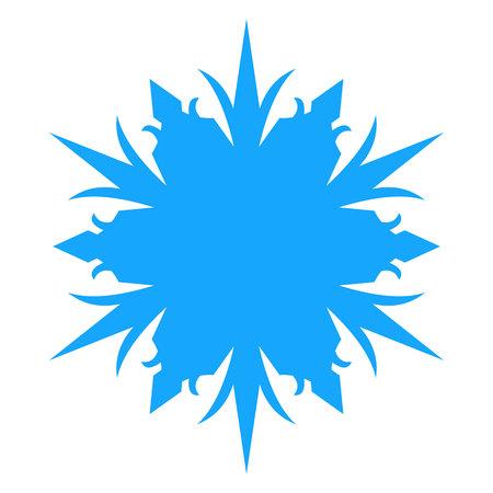 Snowflake Icon. vector illlustration. Isolated on white background. Illustration