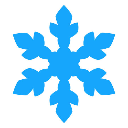 Snowflake Icon. vector illustration. Isolated on white background. Ilustração