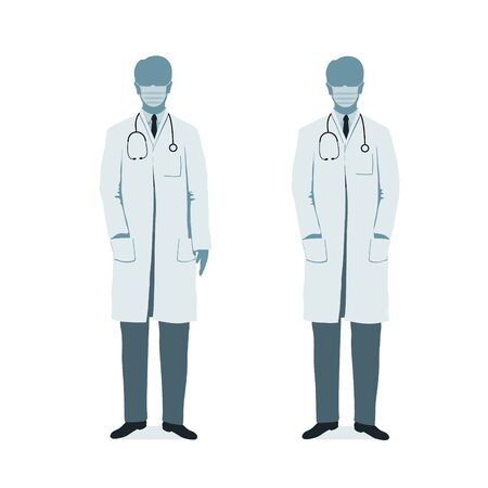 doctor on medical gown. Health care. Hospital medical staff.