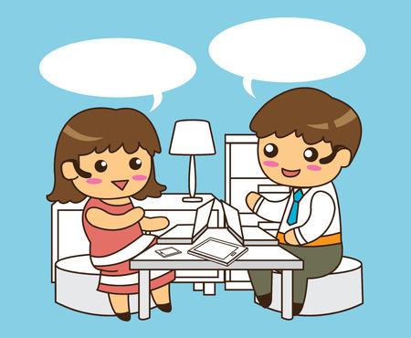 women talking: Man and Women Talking Cartoons