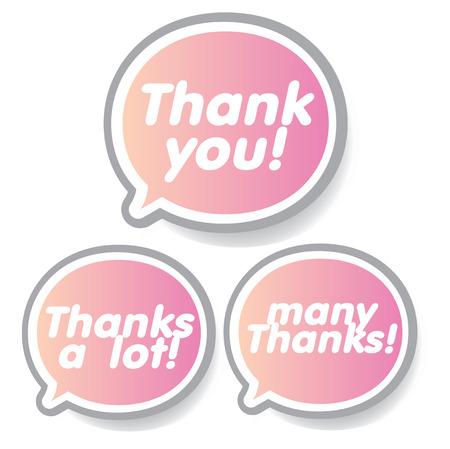 Thank you - grateful bubbles. Vector. Vector