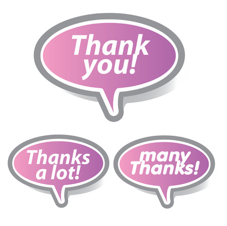 thanks a lot: Thank you - grateful bubbles. Vector.