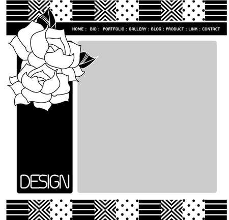 web site design template: Web site design template, minimal, vector.