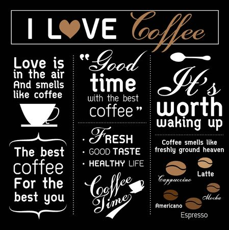 wallpaperrn: Vector Backdrop with coffee and text