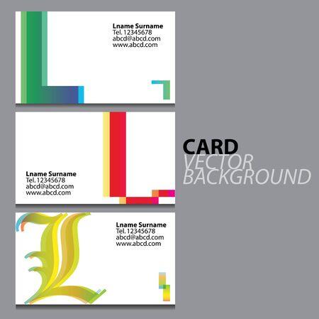 l: Business cards L symbol Illustration