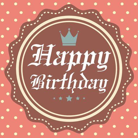 happy birth day: Happy Birth Day Card Vector