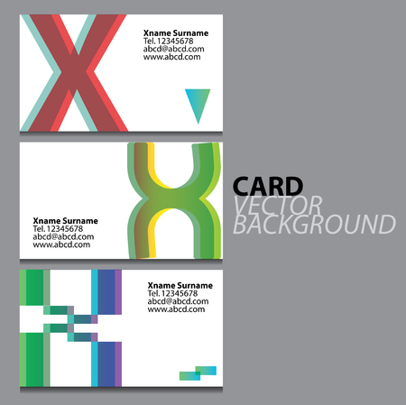 business cards: Business cards X Illustration