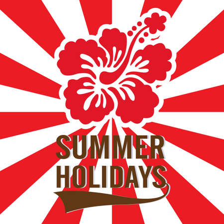 holidays: Summer Holidays Card Illustration