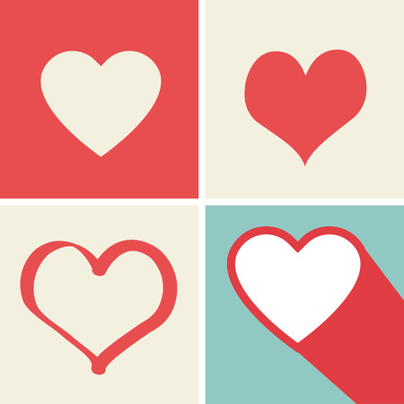 pumping: Happy Valentines card, Love heart vector.