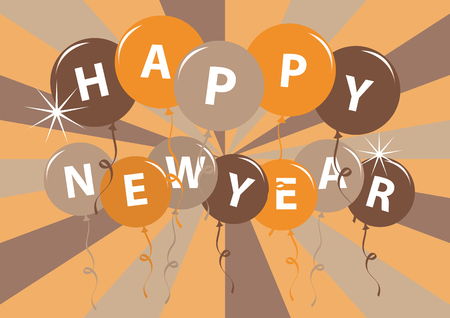 newyear: Happy Newyear card vector