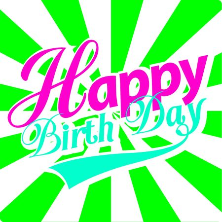 happy birth day: Happy Birth Day card. Illustration