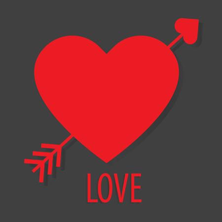 Tarjeta de San Valentín, corazón del amor del vector.
