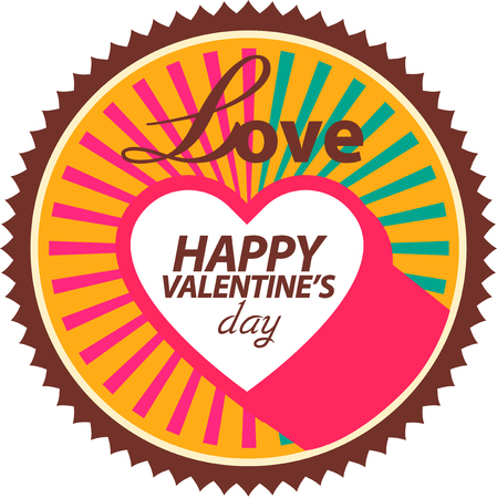 woman floating: Valentines day card. Vector illustration