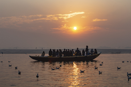 Boat ride on Ganga river, Varanasi