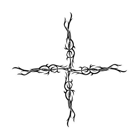crimp: Pattern. Design. Tattoo. Ornament.