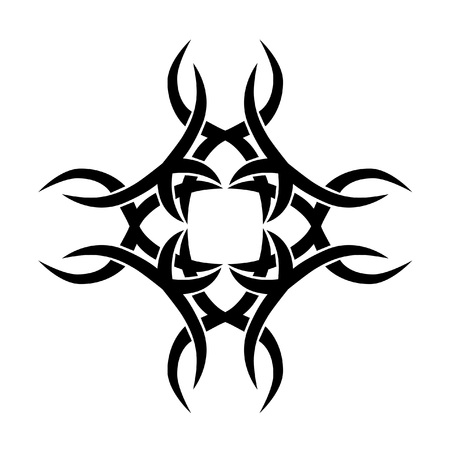 Tattoo tribal cross designs. Vector sketch of a tattoo. Art tribal tattoo.