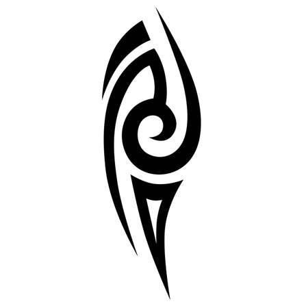 簡単なスケッチ、部族の入れ墨です。部族の入れ墨の芸術。入れ墨のスケッチはベクター。デザインのためのアイデア。  イラスト・ベクター素材
