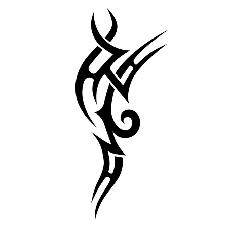 Simple sketched tattoos. Art tribal tattoo. Vector sketch of a tattoo. Idea for design. Illustration