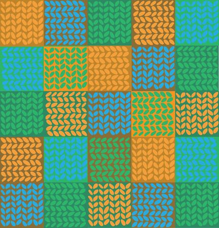 outwork: colorful vector background in the form of knitting