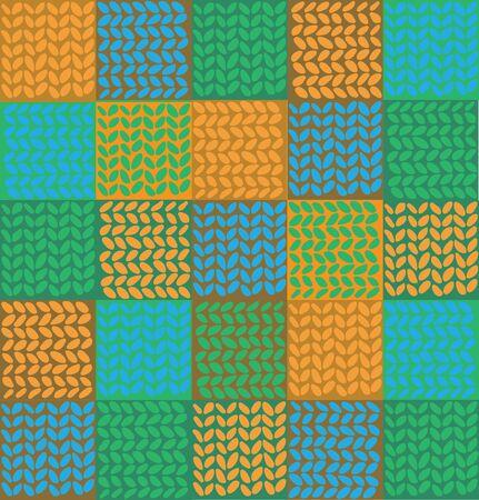 outwork: vector de fondo de colores en la forma de tejer Vectores