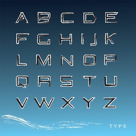 Latin alphabet vector