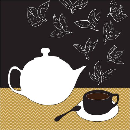 Still Life with vector objects for tea Illustration
