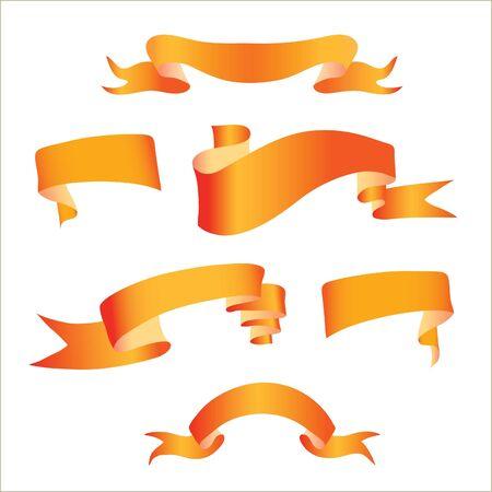 sash: image of orange ribbons on a white background Illustration