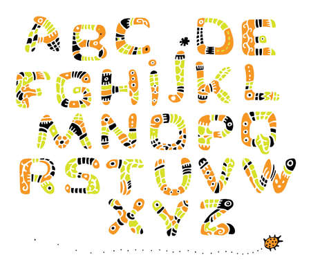 fount:  font color painted in the style of ethnic