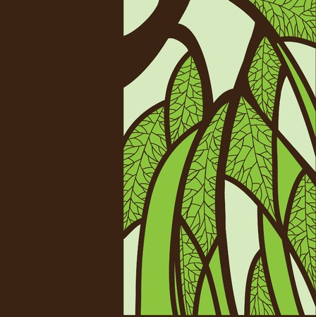 abstract background with a picture of a tree and foliage Illustration