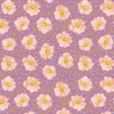 A seamless texture of abstract pink flowers  Vector