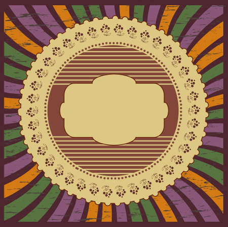 abstract circular frame in retro style  Vector