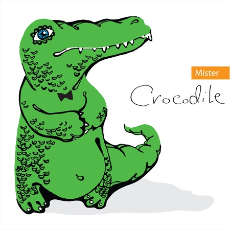Crocodile on a white background Vector