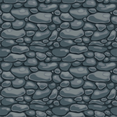 gravel roads: Seamless texture with the image of the masonry Illustration