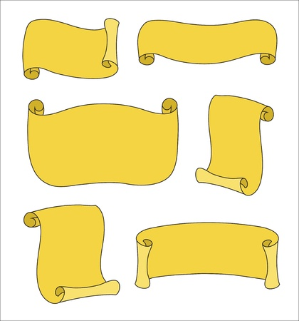 Collection of scrolls paper isolated  Vector image