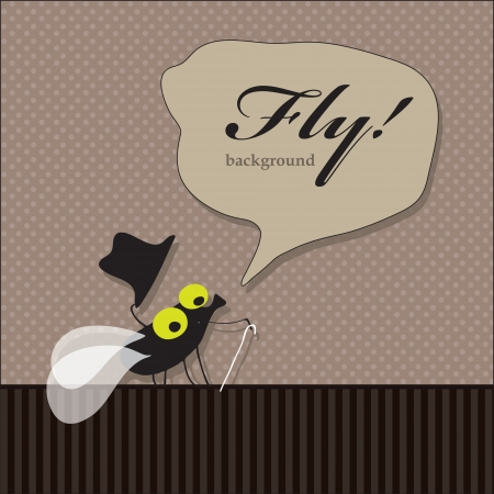 Image comics fly, which greets his hat off Vector