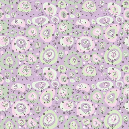 Seamless pattern on flower theme. Vector image