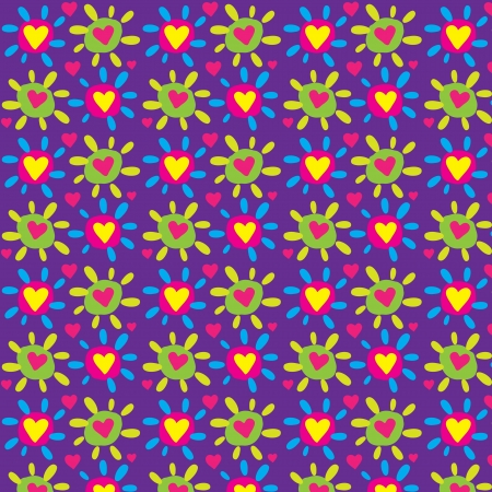 Seamless colorful heart vector pattern Vector