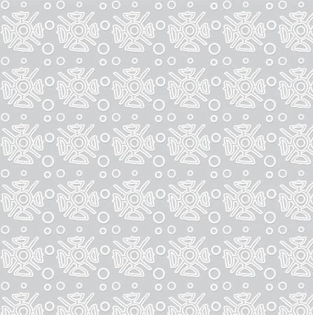 Seamless pattern with snowflakes  Vector art