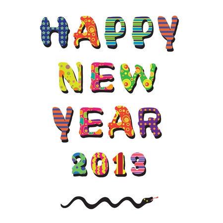 Happy new year 2013, colorful design Stock Vector - 16003191