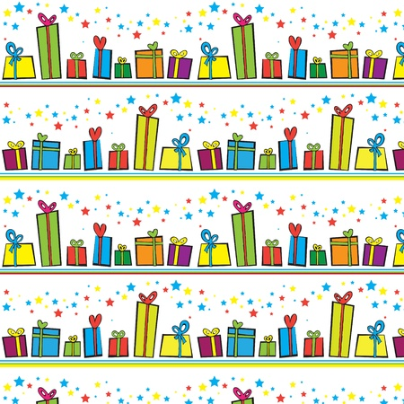 A vector illustration of gift boxes background Vector