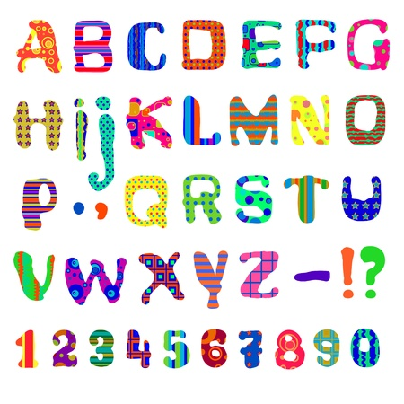 alphabet kids: Vector illustration  Each letter embroidered in a pattern