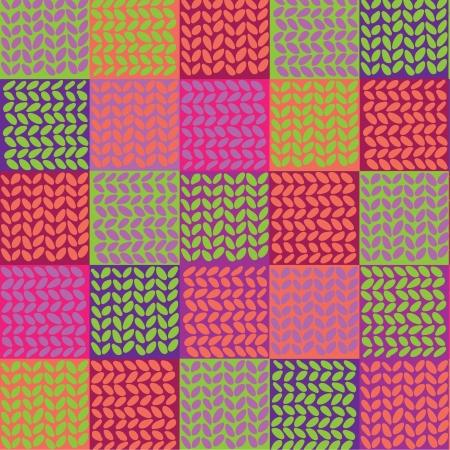 homespun: Quilt seamless pattern  Vector patchwork background