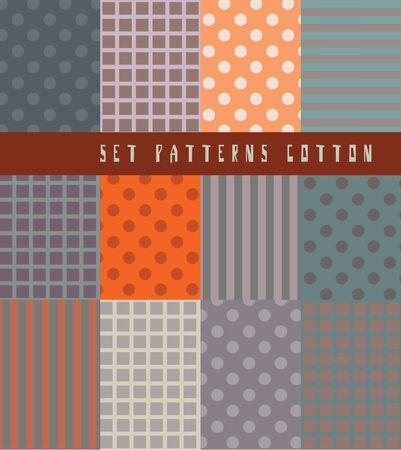 Set seamless with a simple geometric pattern  Vector art