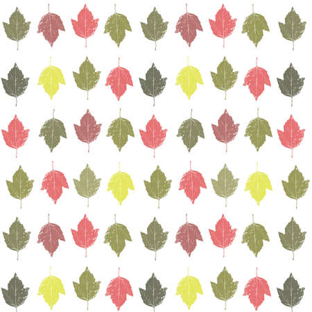 Seamless texture  Autumn background with leaves  Vector illustration Stock Vector - 16440700