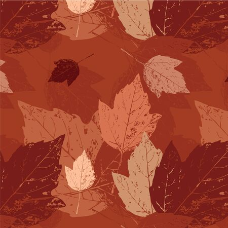 Autumn background with leaves. Seamless texture. Vector illustration Stock Vector - 16440693