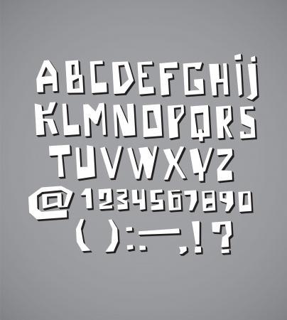Alphabet design modern style, back to school style Stock Vector - 16440665