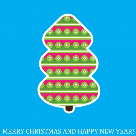 Creative Christmas tree. Vector Illustration. Stock Vector - 16440644