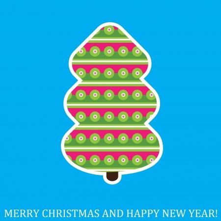Creative Christmas tree. Vector Illustration. Stock Vector - 16440644
