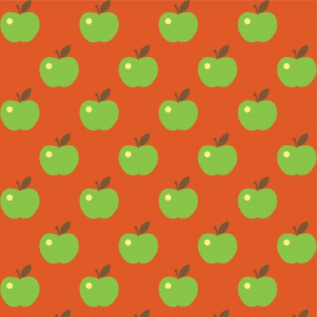 Seamless cute bright colorful apple pattern  Stock Vector - 16844092
